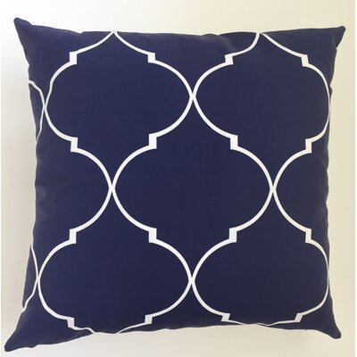 Trellis Throw Pillow Size: 19.5 H x 19.5 W, Color: Blue