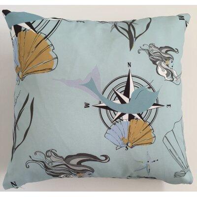 Mermaid Throw Pillow Size: 19.5 H x 19.5 W
