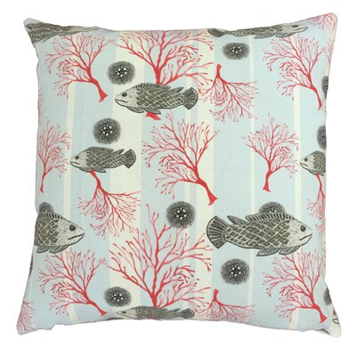 Fish Throw Pillow Size: 19.5