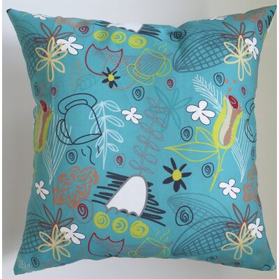 Mid-Century Wildflower Throw Pillow Size: 17.5 H x 17.5 W