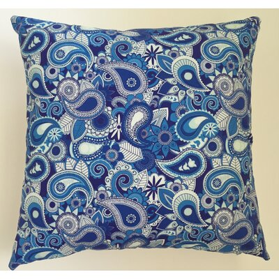 Paisley Throw Pillow Size: 17.5 H x 17.5 W