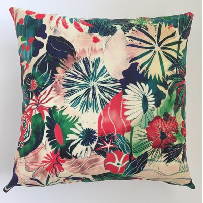 Jungle Throw Pillow Size: 17.5 H x 17.5 W