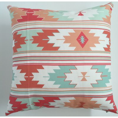 Sunflower Kilim Throw Pillow Size: 19.5 H x 19.5 W, Color: Coral
