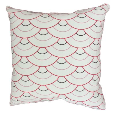 Rosey Circle Throw Pillow Size: 17.5 H x 17.5 W