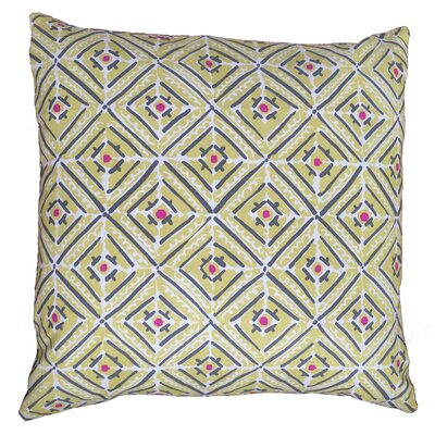 Double Diamond Throw Pillow Size: 17.5