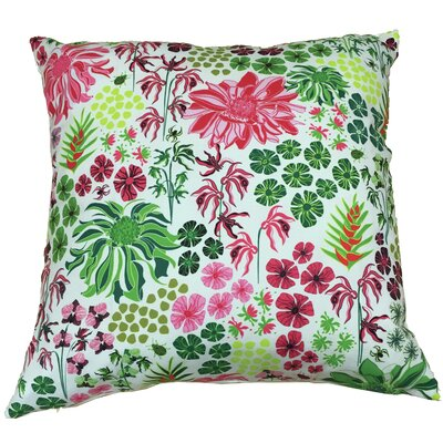 Tropical Botany Throw Pillow Size: 17.5 H x 17.5 W