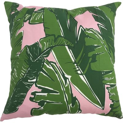 Banana Leaves Throw Pillow Size: 17.5 H x 17.5 W