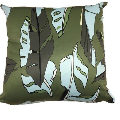 Banana Leaf Throw Pillow Color: Dark Green