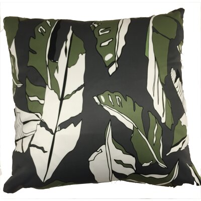 Banana Leaf Throw Pillow Color: Black