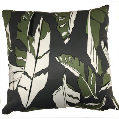 Banana Leaf Throw Pillow Color: Black