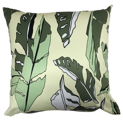 Banana Leaf Throw Pillow Color: Yellow