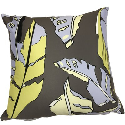 Banana Leaf Throw Pillow Color: Dark Gray