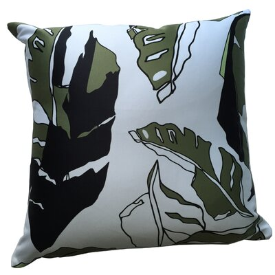 Banana Leaf Throw Pillow Color: White