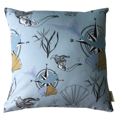 Mermaid Throw Pillow Size: 19.5 H x 19.5 W