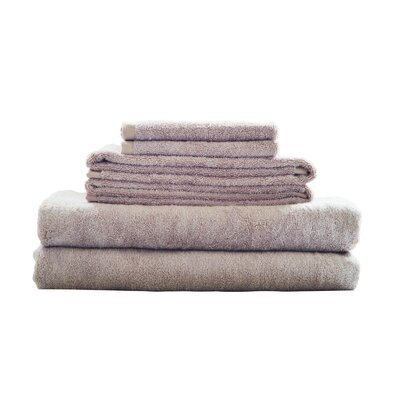 Rayon from Bamboo Fiber 6 Piece Towel Set Color: Beige