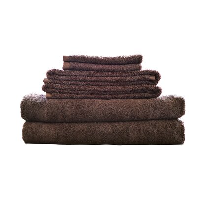 Rayon from Bamboo Fiber 6 Piece Towel Set Color: Mocha