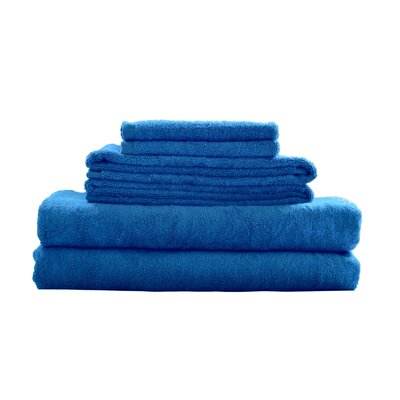 Rayon from Bamboo Fiber 6 Piece Towel Set Color: Blue