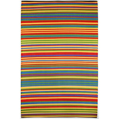 Yellow/Green/Red Indoor/Outdoor Area Rug Rug Size: 5 x 8