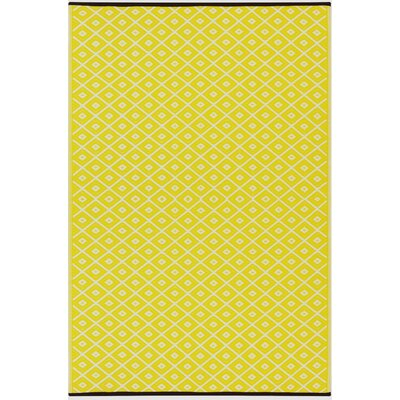 Arabian Nights Yellow/White Indoor/Outdoor Area Rug Rug Size: 3 x 5
