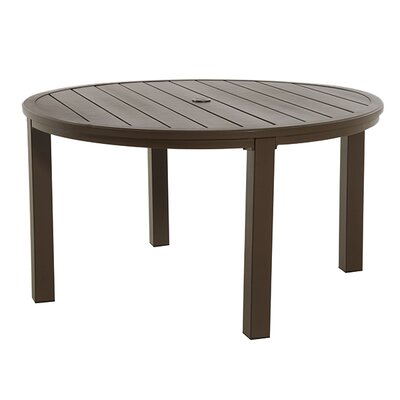 Round Slat Top Table Finish: Brown