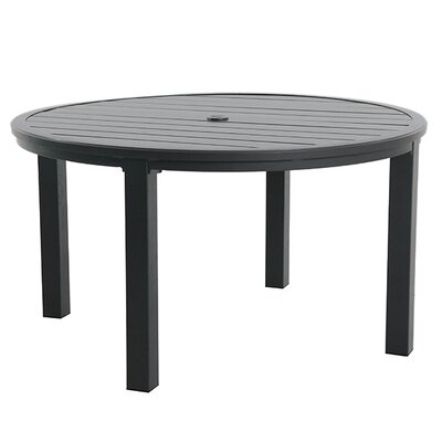 Round Slat Top Table Finish: Graphite