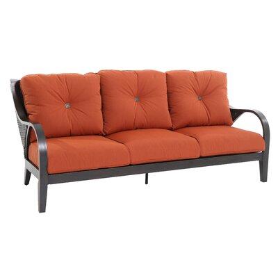 Indigo Sofa with Cushion Fabric: Canvas Brick