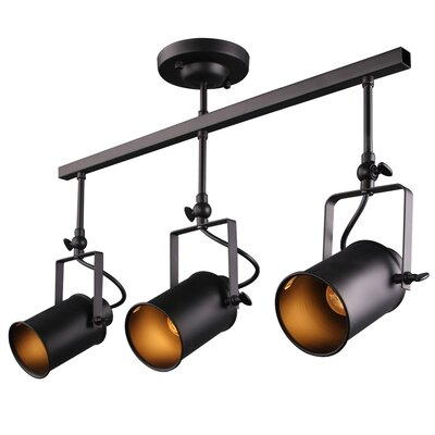 3-Light Industrial Ceiling Spotlight
