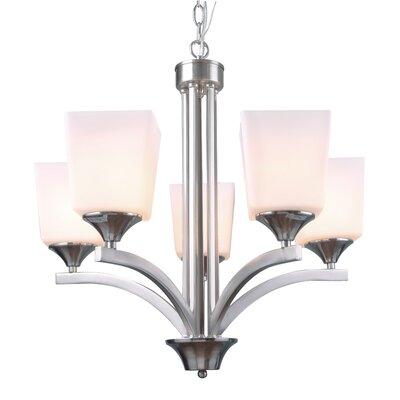 5-Light Shaded Chandelier