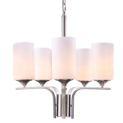 Modern 5-Light Shaded Chandelier