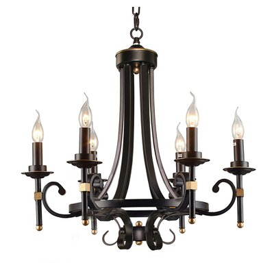 6-Light LED Candle-Style Chandelier