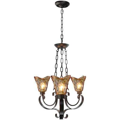 Traditional 3-Light LED Shaded Chandelier