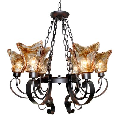 Antique 6-Light LED Shaded Chandelier