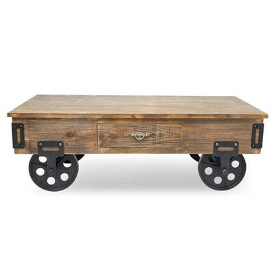 Berberia Industrial Trolley Coffee Table
