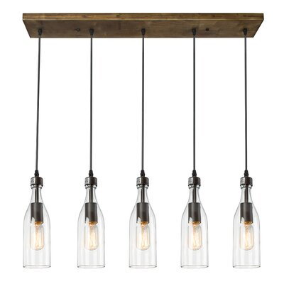 5-Light LED Kitchen Island Pendant