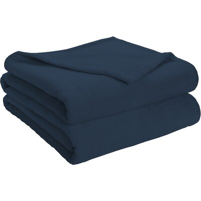 Semi Fitted Plush Bed Blanket Color: Blue, Size: Twin/Twin XL