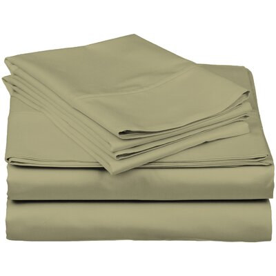 Brushed Fitted Top Sheet Set Color: Sage Green, Size: Twin XL