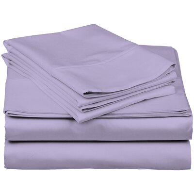 Brushed Fitted Top Sheet Set Size: California King, Color: Lavender