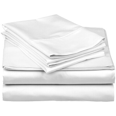 Brushed Fitted Top Sheet Set Color: White, Size: King