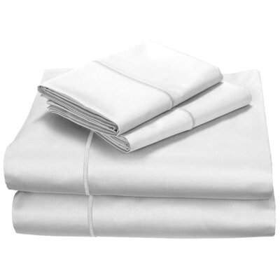 400 Thread Count 100% Cotton Fitted Top Sheet Set Size: Queen