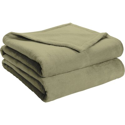 Semi Fitted Plush Bed Blanket Size: King, Color: Sage Green