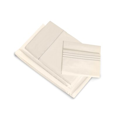 Montpelier 400 Thread Count 100% Cotton Fitted Sheet Set Size: Twin XL