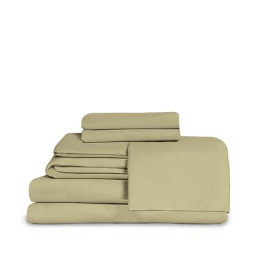 Itasca Microfiber Fitted Top Sheet Set Color: Sage Green, Size: Twin