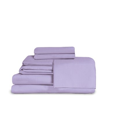 Itasca Microfiber Fitted Top Sheet Set Size: Twin, Color: Lavender