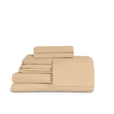 Microfiber Fitted Top Sheet Set Size: Full, Color: Camel
