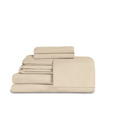 Microfiber Fitted Top Sheet Set Size: Queen, Color: Sand Shell