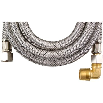 6 Braided Stainless Steel Dishwasher Hose with Elbow