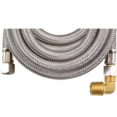 8 Braided Stainless Steel Dishwasher Hose with Elbow