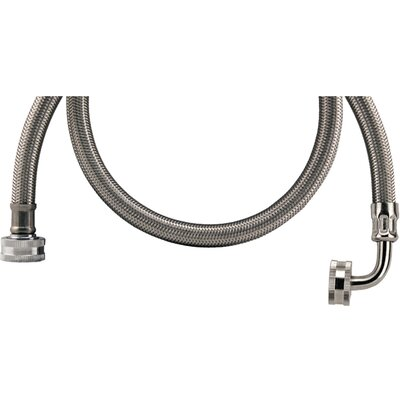 5 Braided Stainless Steel Washing Machine Hose with Elbow