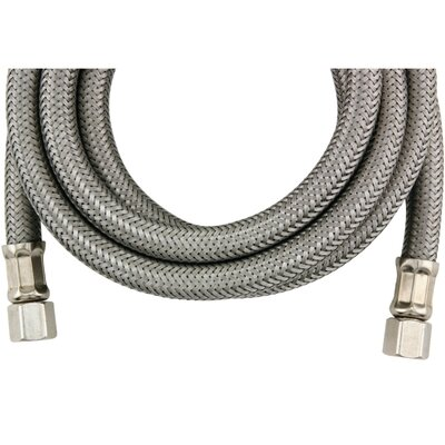 6 Braided Stainless Steel Ice Maker Hose