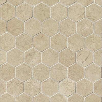 El Dorado 2 x 2 Porcelain Hexagon Mosaic Tile in Sand